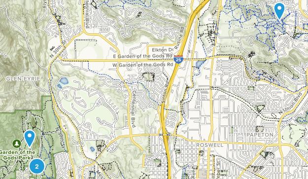 Glen Eyrie, Colorado Map