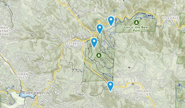 Kittredge, Colorado Map