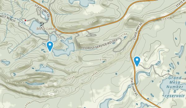Mesa Lakes Resort, Colorado Map