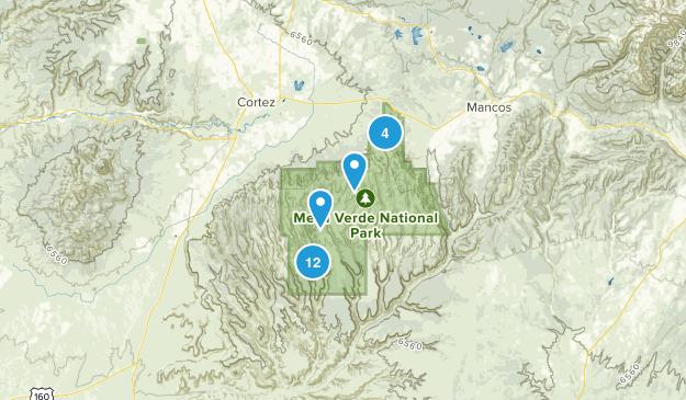 Mesa-Verde-Nationalpark, Colorado Map