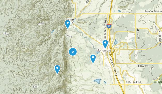 Monument, Colorado Map