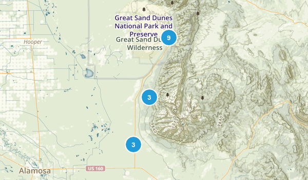 Mosca, Colorado Map