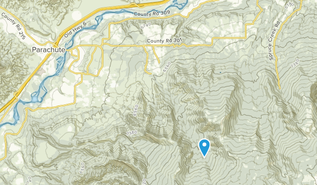 Parachute, Colorado Map