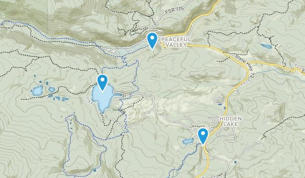 Peaceful Valley, Colorado Map