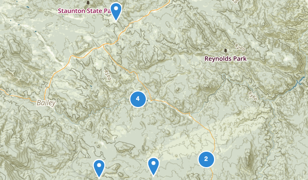 trail locations for Pine, Colorado