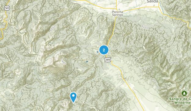 Poncha Springs, Colorado Map