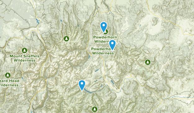 Powderhorn, Colorado Map