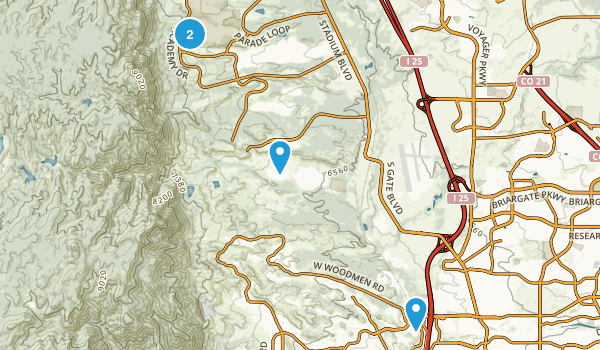 Best Trails Near United States Air Force Academy Colorado - Air force academy map