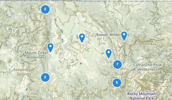 trail locations for Walden, Colorado