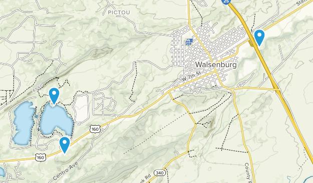 Walsenburg, Colorado Map