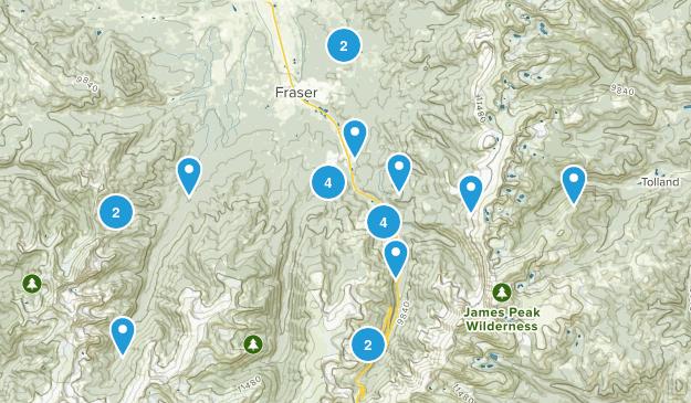 Winter Park, Colorado Map