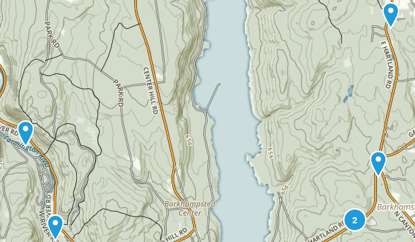 Barkhamsted, Connecticut Map