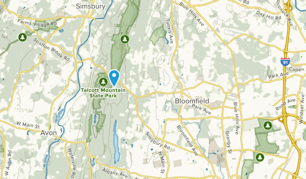 Bloomfield, Connecticut Map
