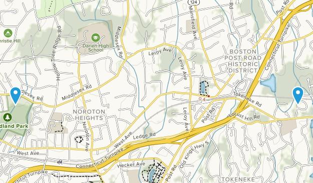 Darien, Connecticut Map