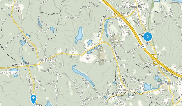 Deep River, Connecticut Map