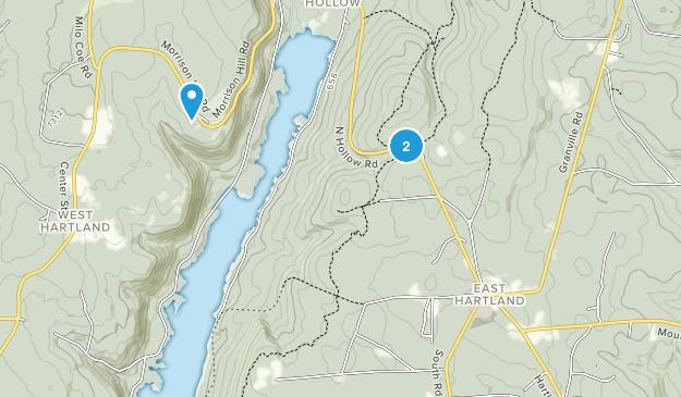 East Hartland, Connecticut Map