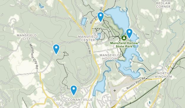 Mansfield Center, Connecticut Map