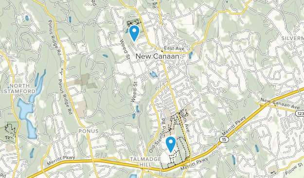New Canaan, Connecticut Map