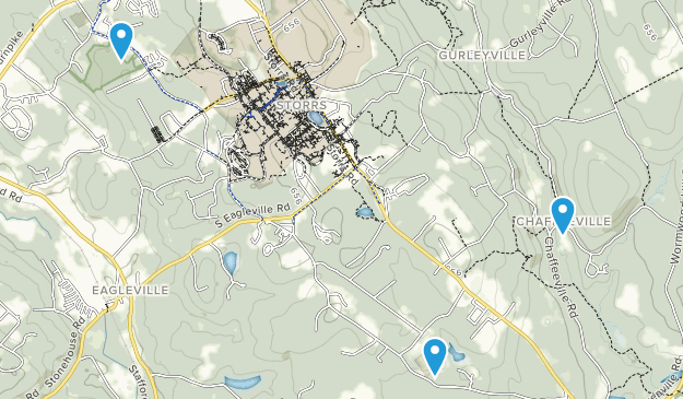 Storrs Mansfield, Connecticut Map