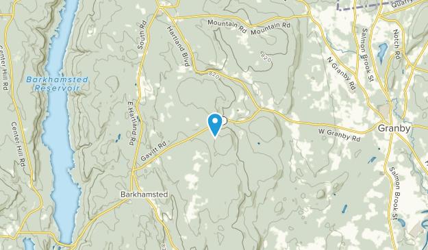 West Granby, Connecticut Map