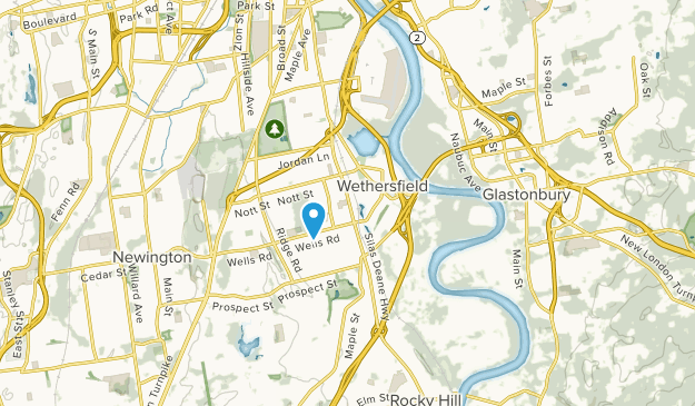 Wethersfield, Connecticut Map