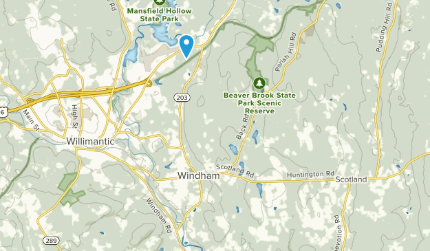 Windham, Connecticut Map