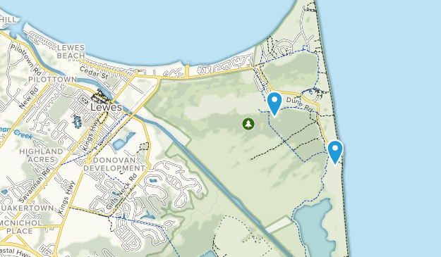 Lewes, Delaware Map