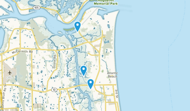 Atlantic Beach, Florida Map