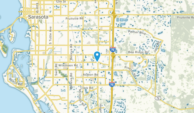 Bee Ridge, Florida Map