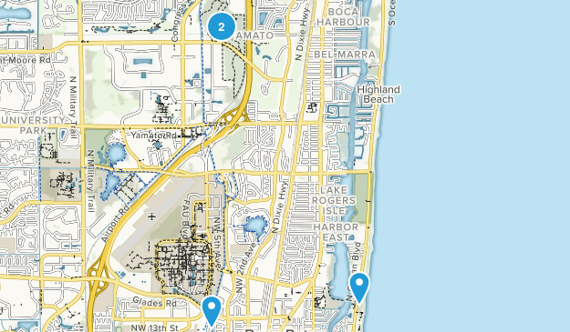Boca Raton, Florida Map