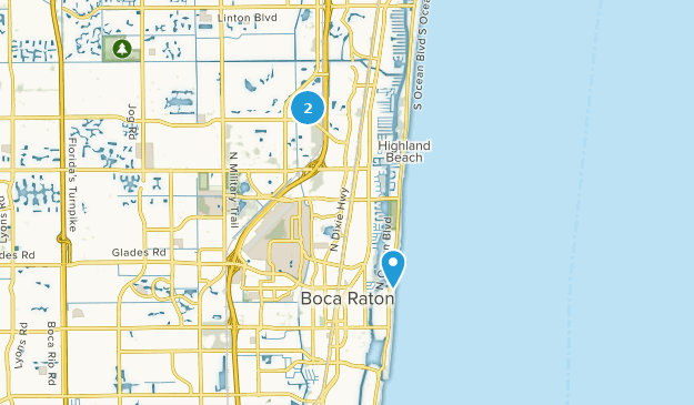 Map Of Florida Showing Boca Raton.Best Trails Near Boca Raton Florida Alltrails