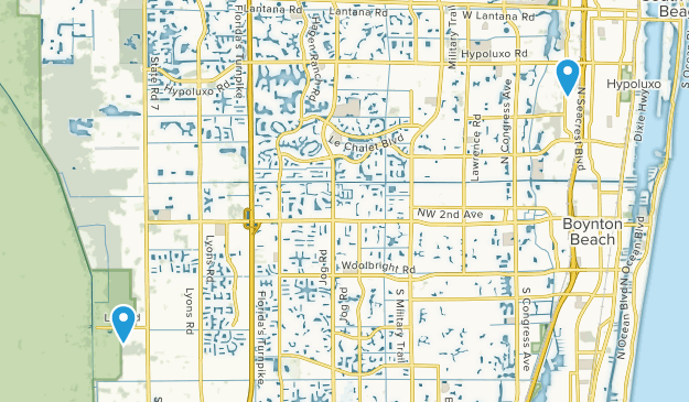 Boynton Beach, Florida Map