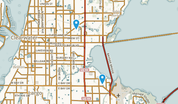Clearwater, Florida Map