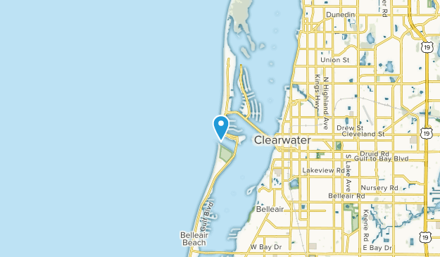 Clearwater Beach, Florida Map