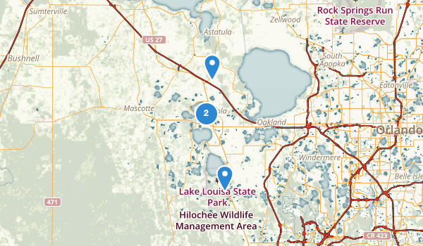 Clermont, Florida Map