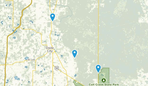 Cities In Florida Map.Best Trails Near Dade City Florida Alltrails