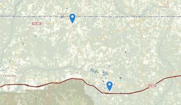 Defuniak Springs, Florida Map