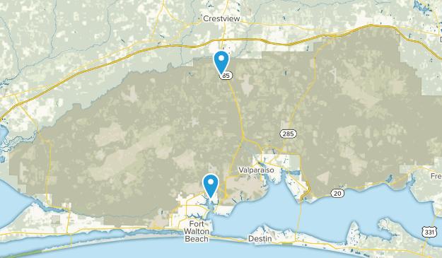 Eglin Air Force Base, Florida Map