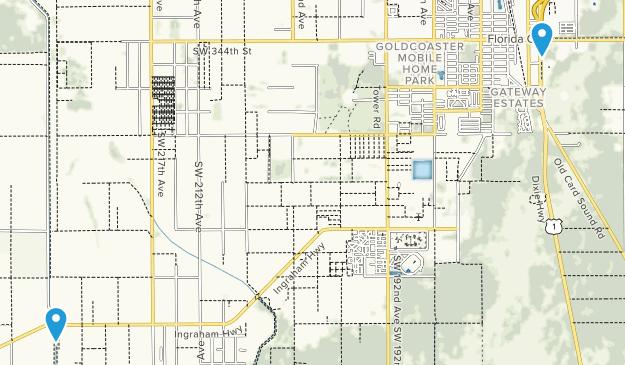 Florida City, Florida Map