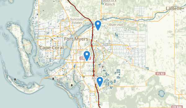 Fort Myers, Florida Map