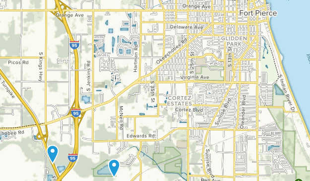 Fort Pierce, Florida Map
