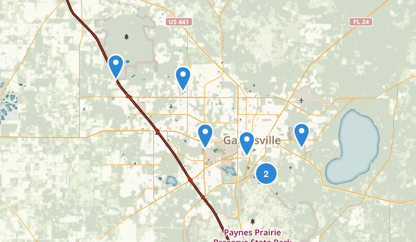 Gainesville, Florida Map