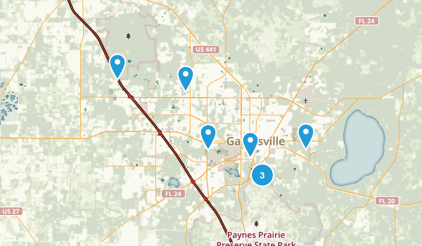 Gainesville, Florida Map