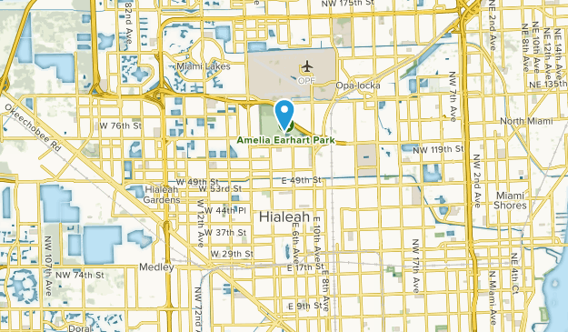 Hialeah, Florida Map