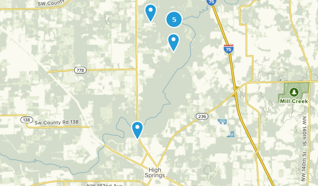 Best Trails near High Springs, Florida | AllTrails on cozumel map, silver river state park map, manatee springs map, st. andrews state park map, caladesi island state park map, ichetucknee state park map, vortex springs map, peacock springs map, weeki wachee springs map, john pennekamp coral reef state park map, oscar scherer state park map, ponce de leon springs map, gilchrist county map, poe springs map, telford map, suwannee river state park map, alexander springs map, high springs fl map, long key state park map, the devil's highway map,