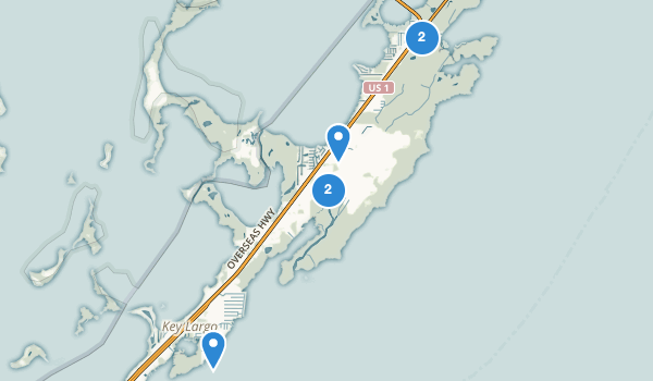 Key Largo, Florida Map