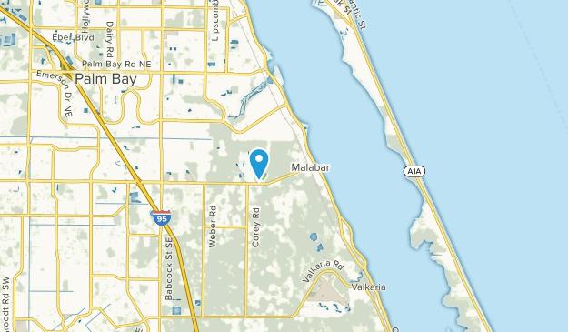 Malabar, Florida Map