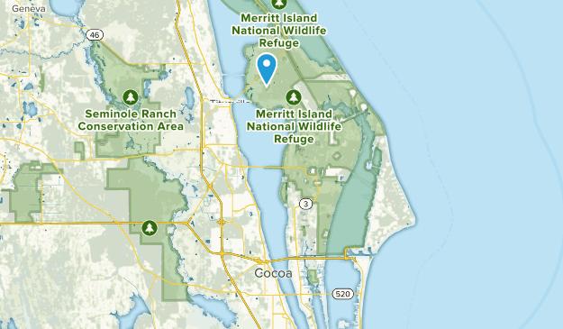 Merrit Island, Florida Map