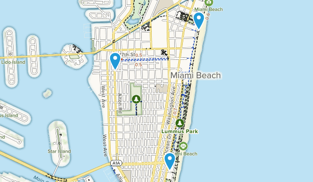 Miami Beach, Florida Map