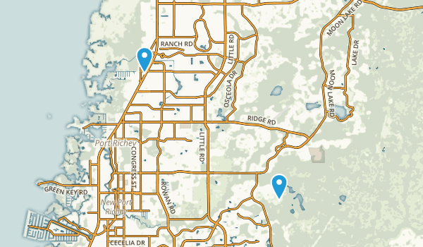 New Port Richey, Florida Map